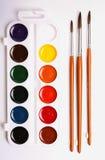 måla redslaglängdvattenfärgen vit royaltyfri bild
