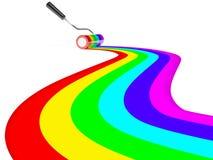 måla regnbågen Arkivbilder