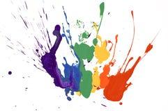måla regnbågen Arkivbild