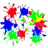 måla splats vektor illustrationer