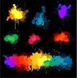 måla splatvektorn vektor illustrationer