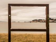 Måla staden som inramar fotoet arkivbilder