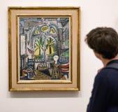 Måla Sudioen från Pablo Picasso i moderna Tate, London Royaltyfri Bild