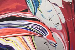 måla swirls Royaltyfri Bild