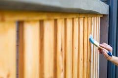 Måla terrassräcke Arkivfoto