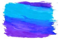 Måla texturerade bakgrundsblått och lilor Arkivbild