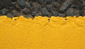 måla tjock yellow Royaltyfri Fotografi