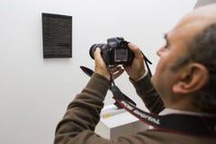 Måla utställningen Arkivbild