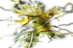 Måla vita guld- gröna livliga skuggor för silver, abstrakt textur Royaltyfri Fotografi