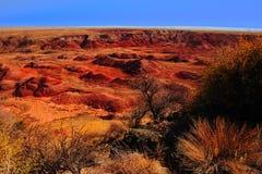 målad öken Fotografering för Bildbyråer