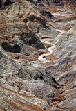 målad öken Arkivfoton