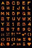 målad alfabetlampa Arkivbilder