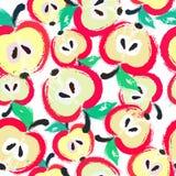 Målad Apple modellbakgrund Royaltyfria Bilder