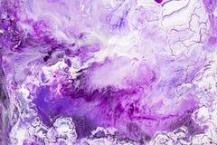 Målad bakgrund för lilor och för vit hand stock illustrationer