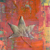 målad bakgrundsleaf Royaltyfria Bilder
