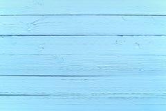 Målad blå wood bakgrundstextur Royaltyfria Bilder