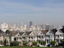 Målad damtoalett av San Francisco royaltyfri bild