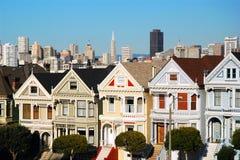 Målad damtoalett, San Francisco arkivfoton