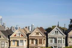 Målad damtoalett, San Francisco royaltyfria foton