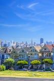 Målad damtoalett, San Francisco arkivfoto