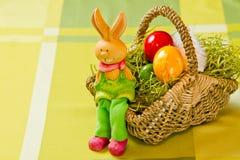 målad ester för kanineaster ägg Arkivfoto