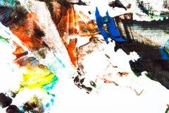 målad färgrik hand för abstrakt bakgrund arkivbild