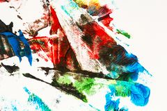 målad färgrik hand för abstrakt bakgrund royaltyfri bild