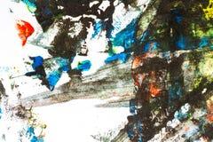 målad färgrik hand för abstrakt bakgrund arkivfoto