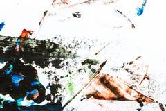 målad färgrik hand för abstrakt bakgrund arkivfoton
