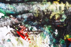 målad färgrik hand för abstrakt bakgrund royaltyfria bilder