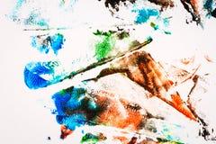 målad färgrik hand för abstrakt bakgrund royaltyfri foto