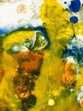 målad färgrik hand för abstrakt bakgrund Royaltyfri Fotografi