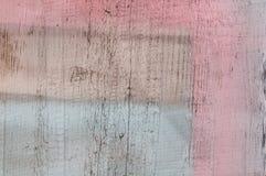 Målad färgrik trätexturerad bakgrund Arkivfoto