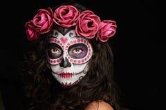 Målad framsida för halloween arkivfoto