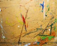 Målad gammal kanfas för målarfärg för att dra Fotografering för Bildbyråer