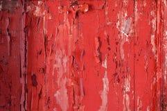 Målad gammal trävägg Röd bakgrund Royaltyfri Fotografi