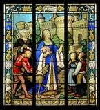 Målad glasfönster royaltyfri foto