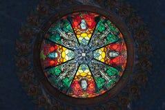 Målad glastakfönster Arkivbilder