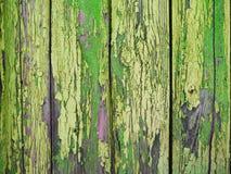 Målad grön wood yttersida, med en abstrakt uttrycksfull vertikal linje textur Pastellfärgad bakgrund för design Kopieringsdegutry Royaltyfri Bild