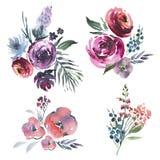 Målad hand royaltyfri illustrationer
