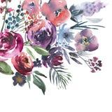 Målad hand stock illustrationer