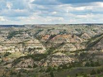 Målad kanjon, Medora, North Dakota arkivbild
