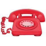 Målad klassisk telefon Royaltyfri Fotografi
