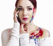 målad kvinna Royaltyfria Bilder