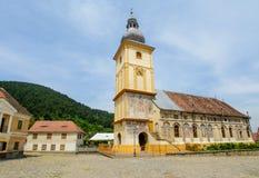 Målad kyrka från den Rasinari byn, nära den Sibiu staden, Transylvania, Rumänien arkivbild