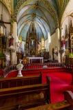 Målad kyrklig inre Royaltyfria Bilder