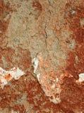 Målad leravägg arkivfoto