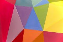 Målad mångfärgad bakgrund med geometriska linjer Arkivfoton