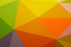Målad mångfärgad bakgrund med geometriska linjer Royaltyfri Bild