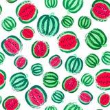 Målad modell för vattenmelon bakgrund Royaltyfria Foton
